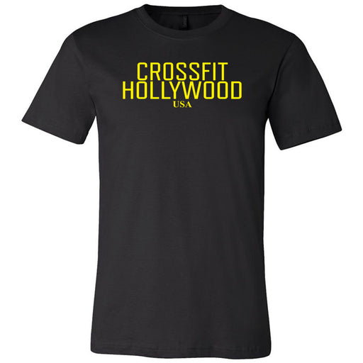 CrossFit Hollywood - 200 - Yellow - Bella + Canvas - Men's Short Sleeve Jersey Tee