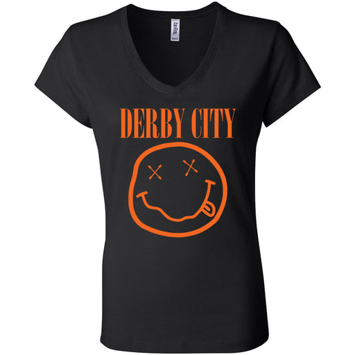 Derby City CrossFit - 200 - Nirvana Orange - Bella + Canvas - Women's Short Sleeve Jersey V-Neck Tee