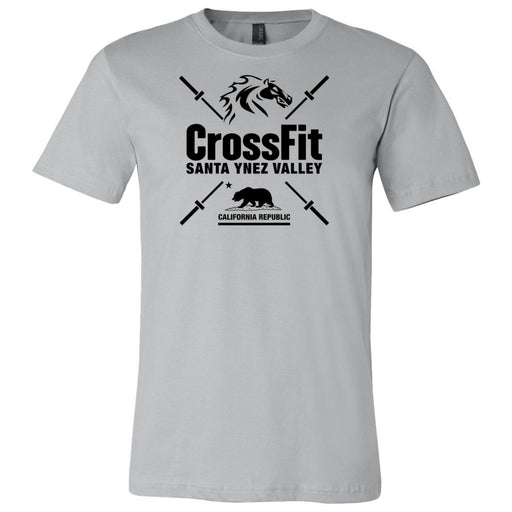 CrossFit Santa Ynez Valley - 100 - Barbell - Bella + Canvas - Men's Short Sleeve Jersey Tee