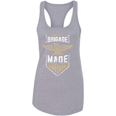 CrossFit Brigade - 100 - Brigade Made Gold - Next Level - Women's Ideal Racerback Tank