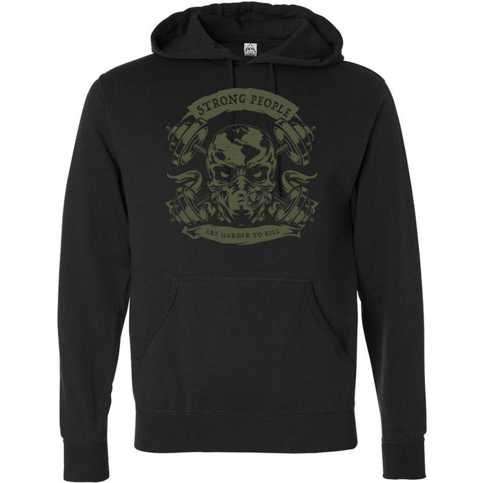 CrossFit Missoula - 201 - Strong People - Independent - Hooded Pullover Sweatshirt