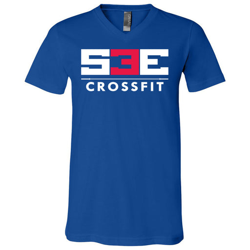 S3E CrossFit - 100 - Standard - Bella + Canvas - Men's Short Sleeve V-Neck Jersey Tee