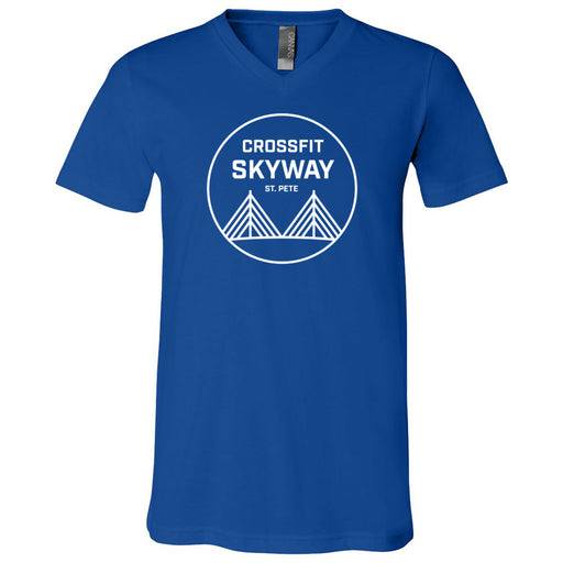 CrossFit Skyway - 100 - Standard - Bella + Canvas - Men's Short Sleeve V-Neck Jersey Tee