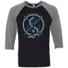 CrossFit Dana Point - 100 - Anchor - Bella + Canvas - Men's Three-Quarter Sleeve Baseball T-Shirt