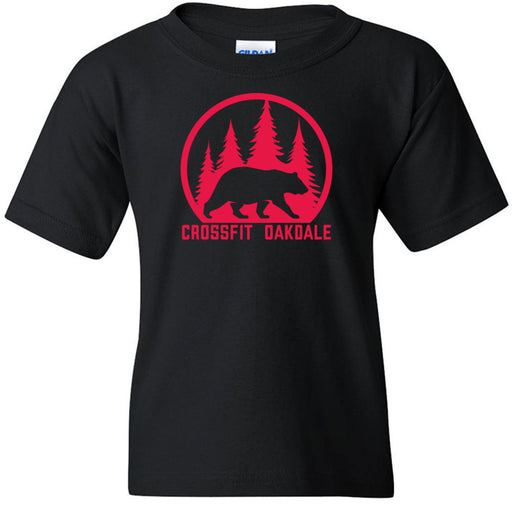 CrossFit Oakdale - 100 - Calibear Red - Gildan - Heavy Cotton Youth T-Shirt