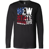 New State CrossFit - 100 - Flag - Bella + Canvas 3501 - Men's Long Sleeve Jersey Tee