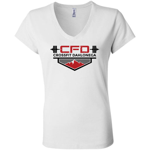 CrossFit Dahlonega - 100 - Standard - Bella + Canvas - Women's Short Sleeve Jersey V-Neck Tee