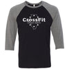 CrossFit Chicago Heights - 100 - Illinois - Bella + Canvas - Men's Three-Quarter Sleeve Baseball T-Shirt