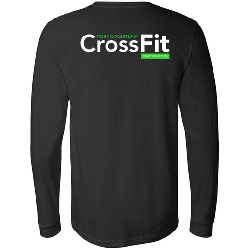 Port Coquitlam CrossFit - 202 - Weightlifting Club - Bella + Canvas 3501 - Men's Long Sleeve Jersey Tee