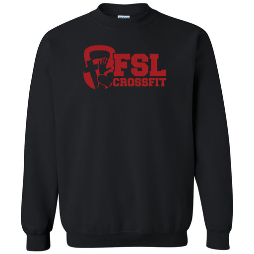 FSL CrossFit - 100 - Red - Gildan - Heavy Blend Crewneck Sweatshirt