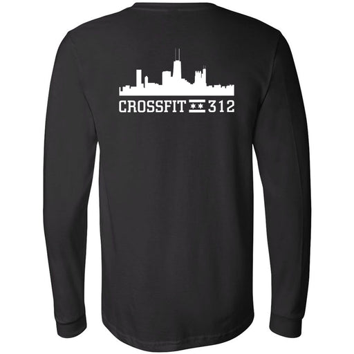 CrossFit 312 - 202 - Built By 312 - Bella + Canvas 3501 - Men's Long Sleeve Jersey Tee