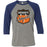 CrossFit Optimistic - 100 - Crest - Bella + Canvas - Men's Three-Quarter Sleeve Baseball T-Shirt