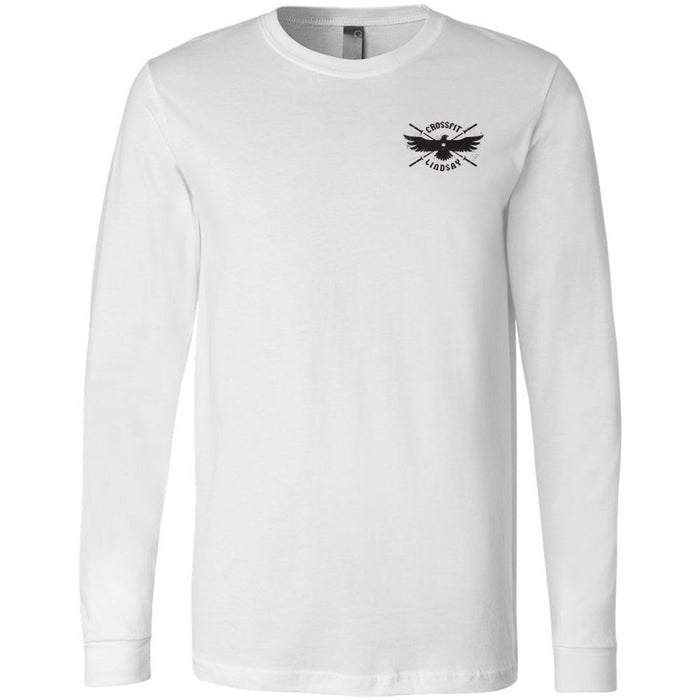 CrossFit Lindsay - 100 - Pocket - Bella + Canvas 3501 - Men's Long Sleeve Jersey Tee