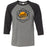 Arbitrium CrossFit - 100 - AA2 Paradise - Bella + Canvas - Men's Three-Quarter Sleeve Baseball T-Shirt