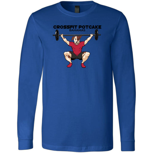 CrossFit Potcake - 100 - Bahamas - Bella + Canvas 3501 - Men's Long Sleeve Jersey Tee