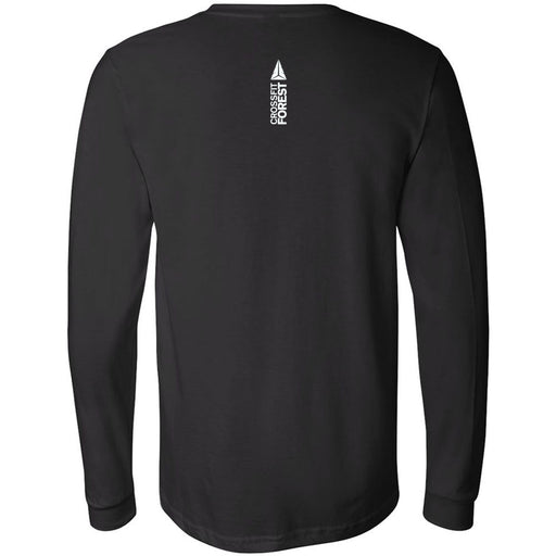 CrossFit Forest - 202 - May the Forest Be With You - Bella + Canvas 3501 - Men's Long Sleeve Jersey Tee