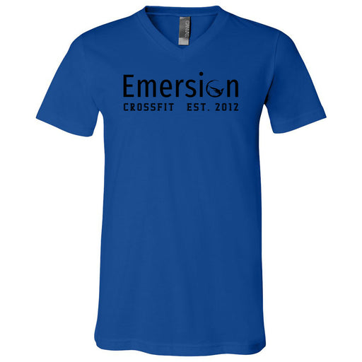 Emersion CrossFit - 100 - Black - Bella + Canvas - Men's Short Sleeve V-Neck Jersey Tee
