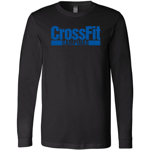 CrossFit Campinas - 100 - Blue - Bella + Canvas 3501 - Men's Long Sleeve Jersey Tee