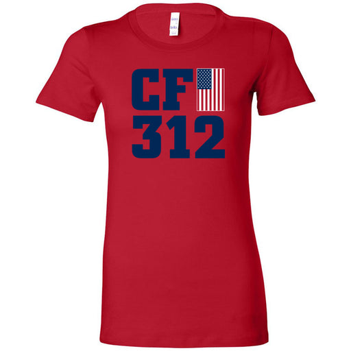 CrossFit 312 - 200 - Murph Red - Bella + Canvas - Women's The Favorite Tee