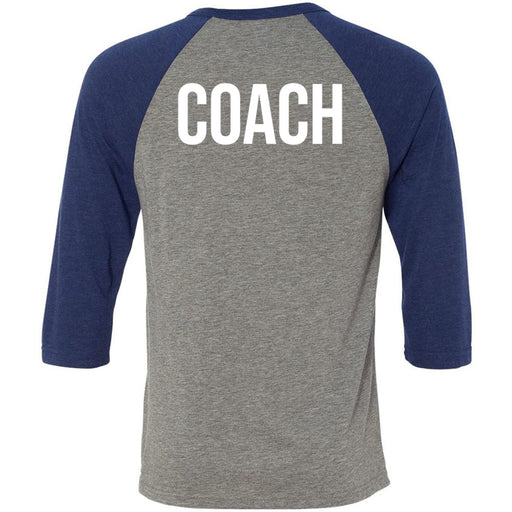 CF Moxie - 202 - Coach - Bella + Canvas - Men's Three-Quarter Sleeve Baseball T-Shirt