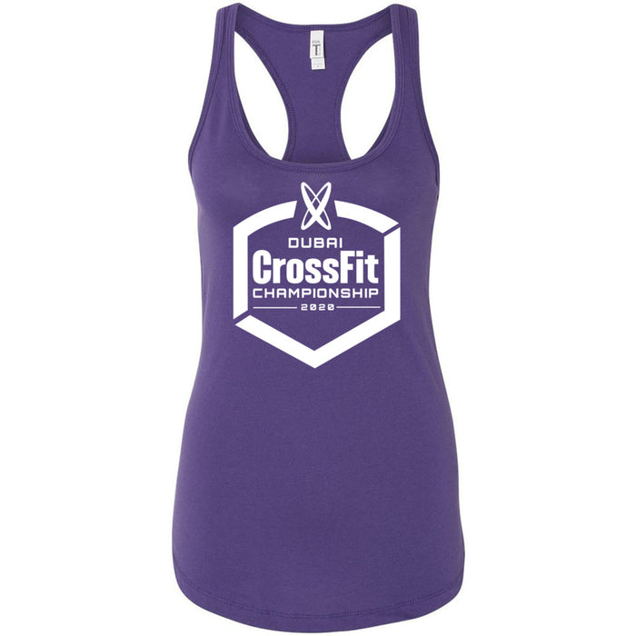 Dubai CrossFit Championship - 100 - White - Next Level - Women's Ideal Racerback Tank