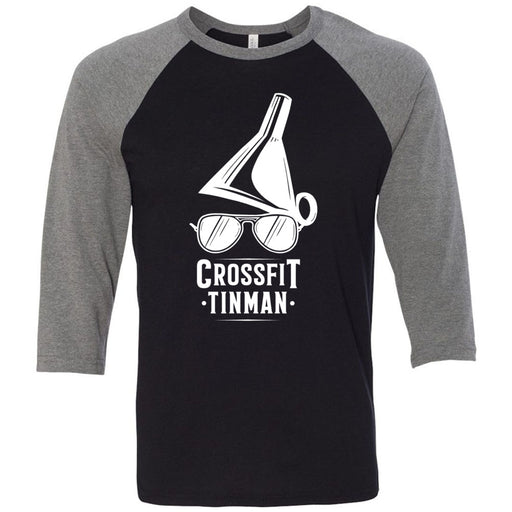 CrossFit Tinman - 100 - Standard - Bella + Canvas - Men's Three-Quarter Sleeve Baseball T-Shirt