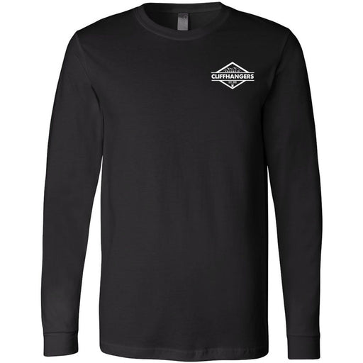 CrossFit Cliffhangers - 100 - Pocket - Bella + Canvas 3501 - Men's Long Sleeve Jersey Tee