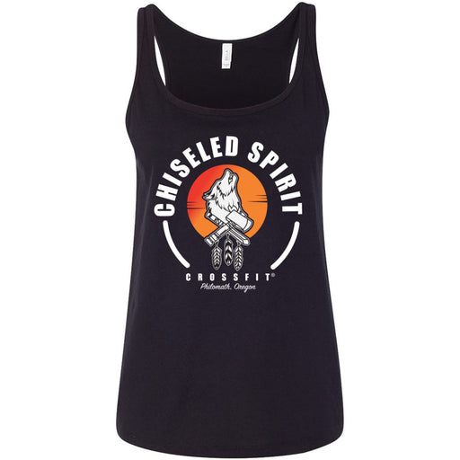 Chiseled Spirit CrossFit - 100 - Stacked - Bella + Canvas - Women's Relaxed Jersey Tank