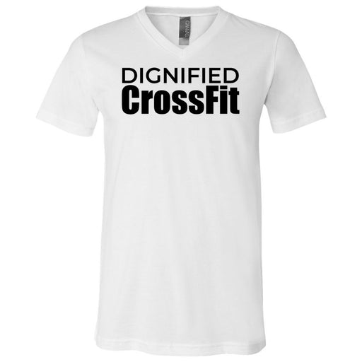Dignified CrossFit - 100 - Stacked - Bella + Canvas - Men's Short Sleeve V-Neck Jersey Tee