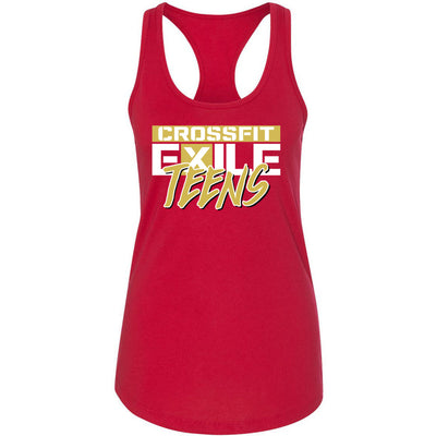 CrossFit Exile - 100 - Teens Gold - Next Level - Women's Ideal Racerback Tank