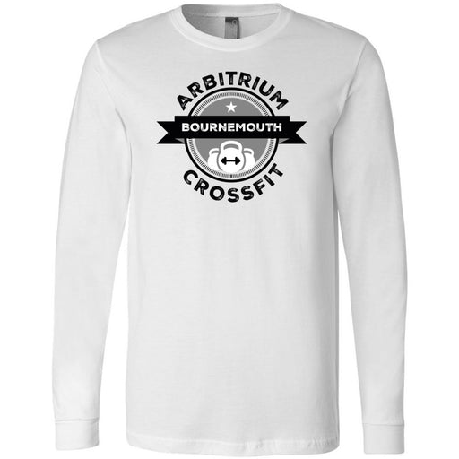 Arbitrium CrossFit - 100 - Black and White - Bella + Canvas 3501 - Men's Long Sleeve Jersey Tee