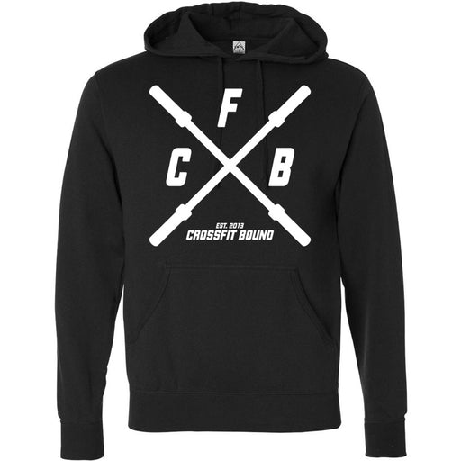 CrossFit Bound - 100 - Barbell - Independent - Hooded Pullover Sweatshirt