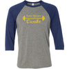 Lander University CrossFit - 100 - Barbell - Bella + Canvas - Men's Three-Quarter Sleeve Baseball T-Shirt