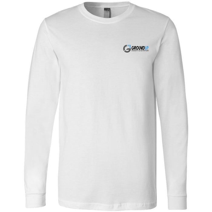 CrossFit Ground Up - 100 - Pocket - Bella + Canvas 3501 - Men's Long Sleeve Jersey Tee