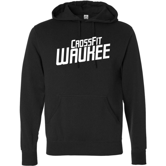 CrossFit Waukee - 100 - Angled - Independent - Hooded Pullover Sweatshirt