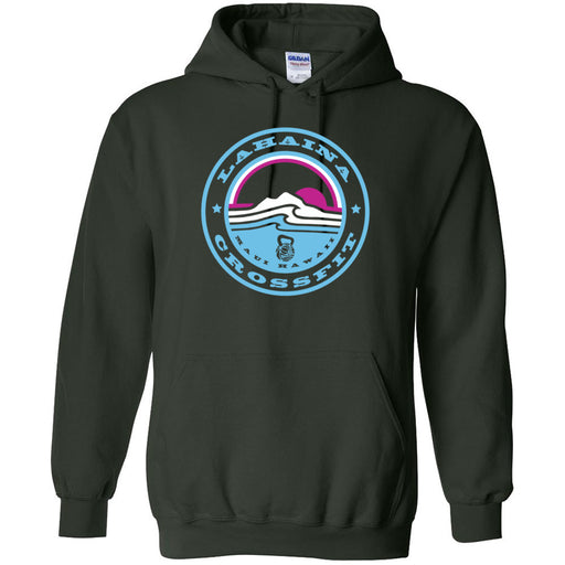 Lahaina CrossFit - 100 - Miami Sunrise Blue - Gildan - Heavy Blend Hooded Sweatshirt