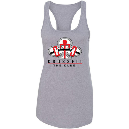 CrossFit The Club - 100 - Red - Next Level - Women's Ideal Racerback Tank