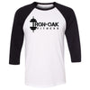 CrossFit Solon - 202 - Iron Oak - Bella + Canvas - Men's Three-Quarter Sleeve Baseball T-Shirt