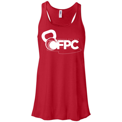 CrossFit Pell City - 100 - White - Bella + Canvas - Women's Flowy Racerback Tank