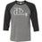 CrossFit TakeBack - 100 - Barbell - Bella + Canvas - Men's Three-Quarter Sleeve Baseball T-Shirt