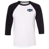 CrossFit Fort Worth East - 100 - Pocket - Bella + Canvas - Men's Three-Quarter Sleeve Baseball T-Shirt