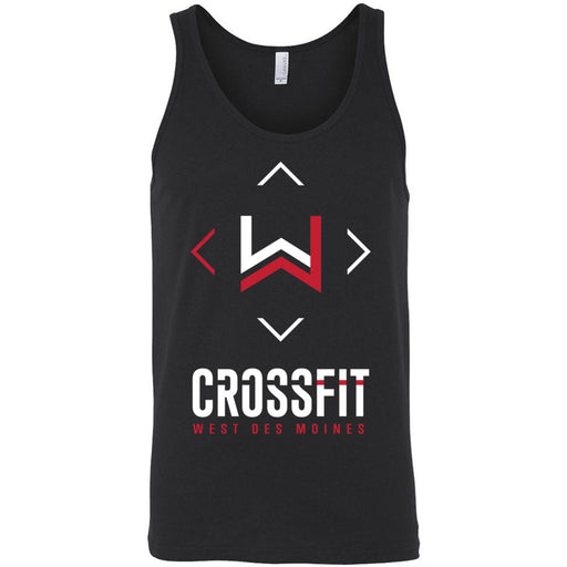 CrossFit West Des Moines - 100 - Stacked - Bella + Canvas - Men's Jersey Tank