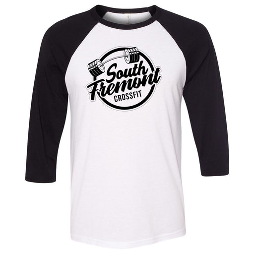 South Fremont CrossFit - 100 - Standard - Bella + Canvas - Men's Three-Quarter Sleeve Baseball T-Shirt