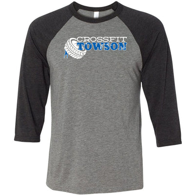 CrossFit Towson - 202 - B-More Than You Were Yesterday Standard - Bella + Canvas - Men's Three-Quarter Sleeve Baseball T-Shirt