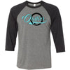 Outlier CrossFit - 202 - Script - Bella + Canvas - Men's Three-Quarter Sleeve Baseball T-Shirt