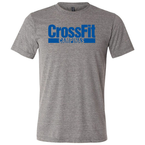 CrossFit Campinas - 100 - Blue - Bella + Canvas - Men's Triblend Short Sleeve Tee