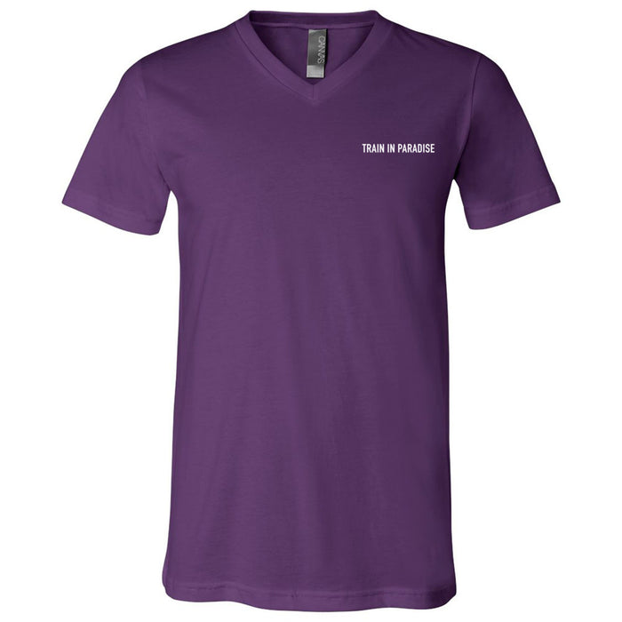 CrossFit Naples - 200 - Train in Paradise - Bella + Canvas - Men's Short Sleeve V-Neck Jersey Tee