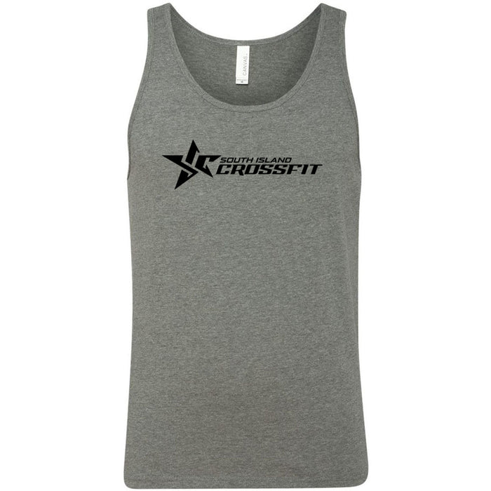South Island CrossFit - 100 - Stacked - Bella + Canvas - Men's Jersey Tank