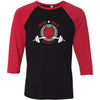 Red Dog CrossFit - 100 - Standard - Bella + Canvas - Men's Three-Quarter Sleeve Baseball T-Shirt