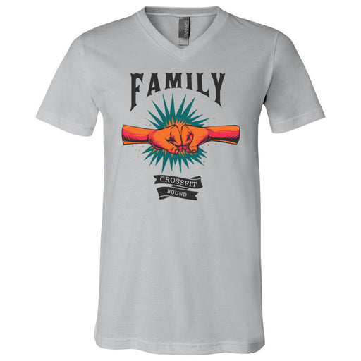 CrossFit Bound - 100 - Family - Bella + Canvas - Men's Short Sleeve V-Neck Jersey Tee